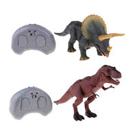 2pcs Remote Control Walking Roars Dinosaur Toy for Kids Lights & Sounds