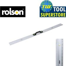 Rolson 1M Metric Imperial Aluminium Builders Ruler with 2 Vials & Carry Handle