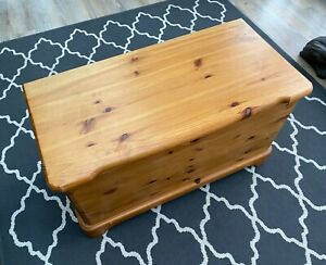 Pine storage chest for blankets/toys. John Lewis