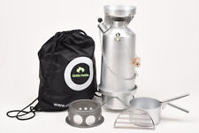 Ghillie Kettle 1.5L Adventurer Silver Anodised Full Kit +Hobo Stove