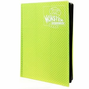 Monster Binder - 9 Pocket Trading Card Album - Holofoil Yellow - Holds 360