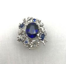 GORGEOUS 4.7 CT NATURAL TANZANITE 925 ST SILVER WOMEN COCKTAIL JEWELRY RING 6.75