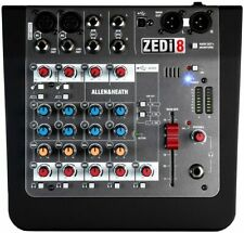 Allen & Heat ZEDi-8 Mixer Compact 8 Channels of for Guitar and Audio Interface