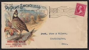 1898 AD CVR FOR DUPONT SMOKELESS POWDERS FOR LOADED SHELLS W/ FULL COLOR CACHET