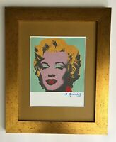 ANDY WARHOL ORIGINAL 1984 SIGNED MARILYN MONROE PRINT MATTED 11X14 + BUY IT NOW!