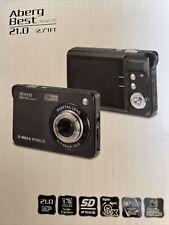 Aberg Best Abcam Black 218 21.0Mp Digital Camera W/2 Batteries No Usb Cable
