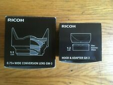 Ricoh GR wide conversion lens GW-3 and Hood Adapter GH-3