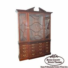 Baker Colonial Williamsburg Collection Large Mahogany Chippendale Breakfront