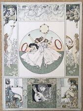 Lithographie Originale Allegorien Heinrich Lefler Martin Gerlach Jugendstil 1898