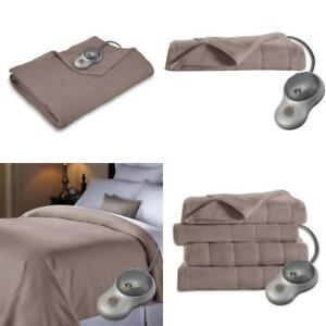 Full Size Electric Fleece Heated Blanket Mushroom Bed Comfort Soft Polyester New