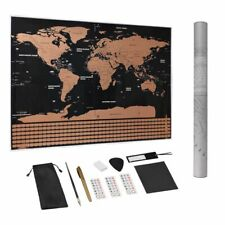 Wall Sticker World Travel Map Premium Personalized Poster Large Scratch Off Kit
