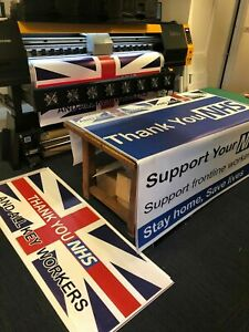 PVC Banner PVC 6ft x 2ft Printed Outdoor Vinyl Sign for Business | FREE EYELET