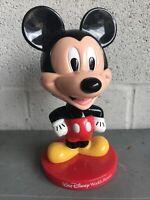 "Mickey Mouse 8"" Plastic Bobble Head Doll Walt Disney World Kellogg's 2002"