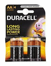 4 Pack Duracell AA MN1500 LR6 MN1500 Alkaline Batteries - NEW Multi Use