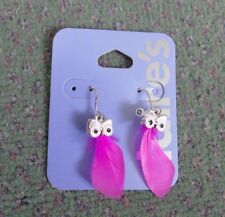 claires owl feather earrings brand new ideal present/gift
