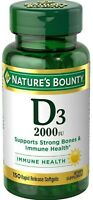Nature's Bounty Super Strength D-2000 IU Softgels 150 Soft Gels (Pack of 3)