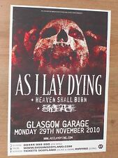 As I Lay Dying + Heaven Shall Burn,Suicide Silence - Glasgow nov.2010 gig poster