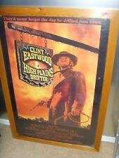 High Plains Drifter Wooden Framed Poster Clint Eastwood 36x24