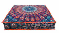 """35X35"""" Large Floor Mandala Pillow Covers Meditation Cushion Dog Bed Cover Throw"""