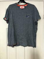 Superdry Grey T-Shirt Size 2XL Mens Short Sleeve Great Condition (G33)