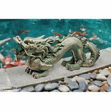 """8""""H Asian Dragon of the Great Wall Garden Statue By Design Toscano"""