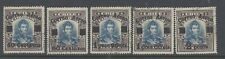 CHILE 1927 AIR SET OF 5 USED WITH MAIER CERTIFICATE