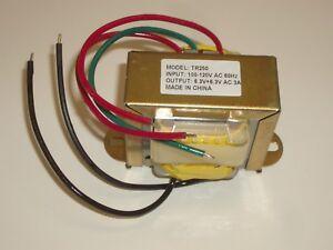 PHILMORE TR250 120VAC TO12.6VAC CENTER TAP CT 6.3V-0-6.3V 3A POWER TRANSFORMER