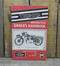 VINTAGE TRIUMPH HANDBOOK 1937 & UP 40S 650CC BRITISH MC MANUAL HOW TO OLD BIKE