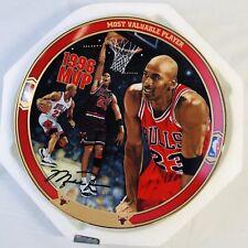 Michael Jordan Bradford Exchange Collectors Plate #2 Most Valuable Player w/ COA