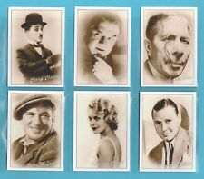 JF SPORTING COLLECTIBLES - SET OF XL 24  FAMOUS  BRITISH  FILM  &  STAGE  STARS