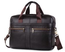 Herren Businesstasche Leder Aktentasche Umhängetasche Messengertasche schwarz