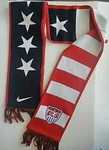 "Nike US Soccer ""Stars and Stripes"" Heavyweight Winter Scarf, 60 inches long"