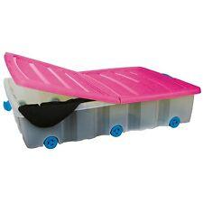 Unterbettkommode mit Rollen 55 L - Unterbettbox Rollenbox Spielzeugkiste Rollbox
