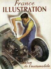 """""""SALON DE L'AUTOMOBILE""""Couverture originale entoilée FRANCE ILLUSTRATION /BRENET"""