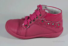 Richter 3500 Girls Fuschia Pink Leather Lace Shoes UK 7 EU 25 US 8 RRP £41.00