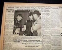 MICKEY MANTLE 1st Centerfield Game Debut New York Yankees 1952 Old NYC Newspaper