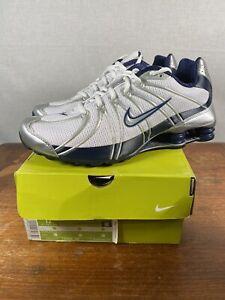 Nike VINTAGE Shox Turbo OZ Men Size 12 Shoes 2005 White Silver Navy Box Rare