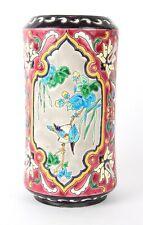 Jules Vieillard Bordeaux Faience Aesthetic Movement Vase Longwy Type
