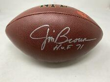 Jim Brown Signed Wilson Full Size Football Cleveland Browns Autograph