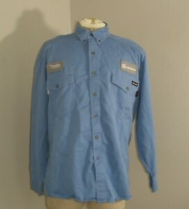 WORKRITE Mens FR Fire Flame Resistant Long Sleeve button down Shirt 46 Large