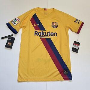Nike FC Barcelona Stadium Soccer 2019-20 Away Jersey AJ5800-728 Youth Size Large