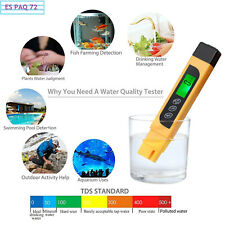 Digital Medidor EC TDS TEMP de Prueba de Calidad del Agua 3 en 1 Pluma de Filtro