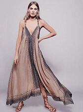 "NEW! Free People ""MERIDA"" Maxi Dress Ivory Combo Size M/L (8,10,12,14) RTl $230!"