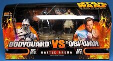 STAR WARS ROTS Battle Arena Mini-Playsets Bodyguard Vs. Obi-Wan NEUF en boite