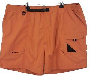 "Eddie Bauer Swim Trunks Men's XXXL Orange UPF40 Quick Dry Nylon 48"" X  8""  New"