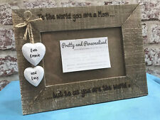 Personalised Photo Frame Driftwood Wooden Frame Auntie Mum Godmother Brother
