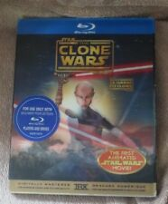 Star Wars: The Clone Wars with Lenticular Slipcover Blu Ray Like New