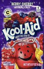 10 BERRY CHERRY FLAVOR Kool Aid Drink Mix dye Vitamin C popsicle fun
