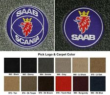Lloyd Mats Saab 9-3 Circle Emblem Velourtex Front Floor Mats (1999-2011)
