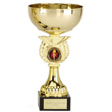 TROPHY CUP AWARD 3 SIZES AVAILABLE ENGRAVED FREE GOLD CRUSADER CUPS TROPHIES